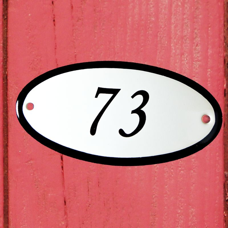 Huisnummerbordje 'ovaal' 74