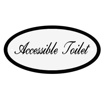 Deurbord Accessible Toilet