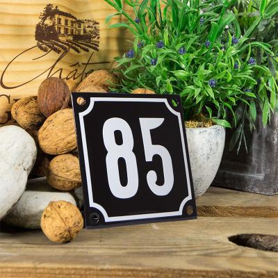 Huisnummerbord klein 'zwart' 85