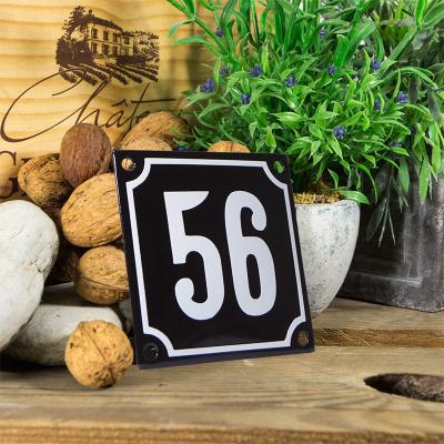 Huisnummerbord klein 'zwart' 56