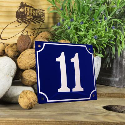 Huisnummerbord groot 'blauw' 11