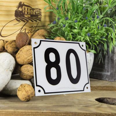 Huisnummerbord groot 'wit' 80