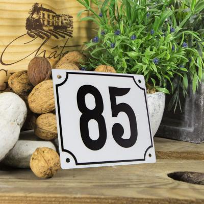Huisnummerbord groot 'wit' 85