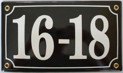 Huisnummerbord 'extra 22x13' 5 cijfers/letters