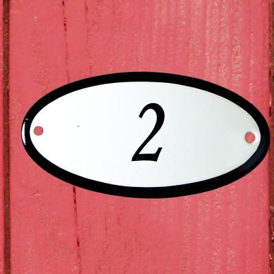 Huisnummerbordje 'ovaal' 2