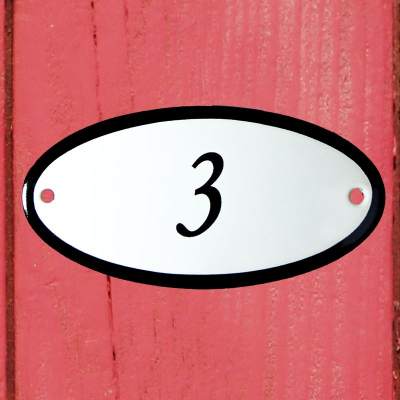 Huisnummerbordje 'ovaal' 3
