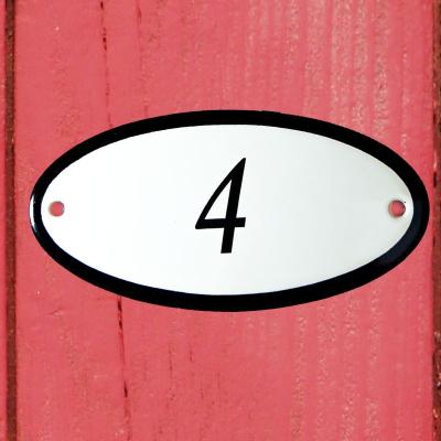 Huisnummerbordje 'ovaal' 4
