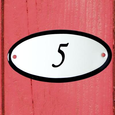 Huisnummerbordje 'ovaal' 5