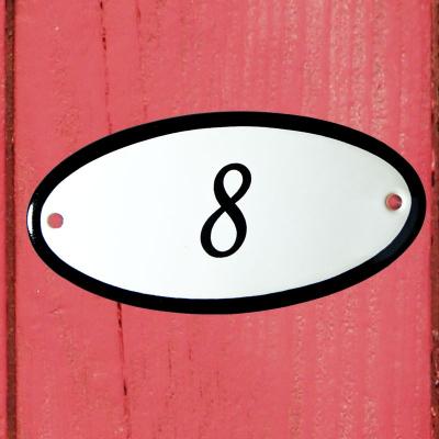 Huisnummerbordje 'ovaal' 8