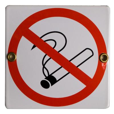 Pictogram: verboden te roken (10x10)