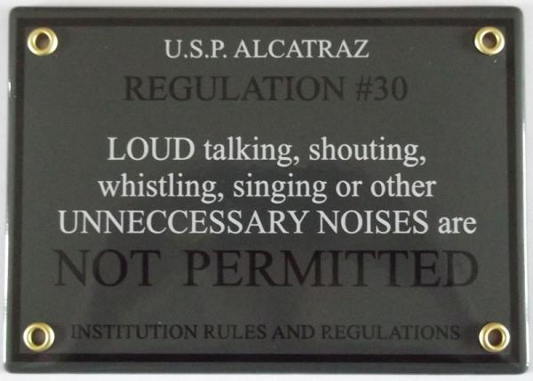 Alcatraz regulation #30