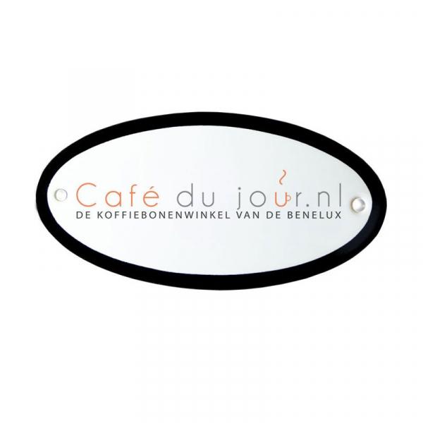 Emaille deurbordje met eigen logo en/of tekst