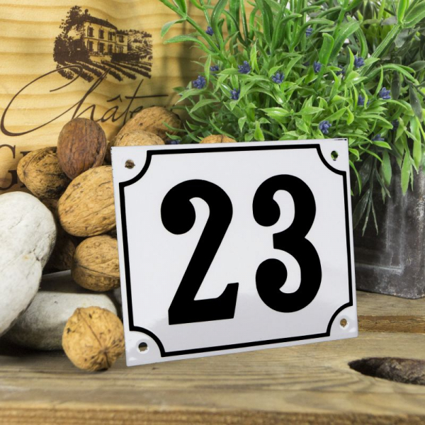 Huisnummerbord groot wit nummer 22