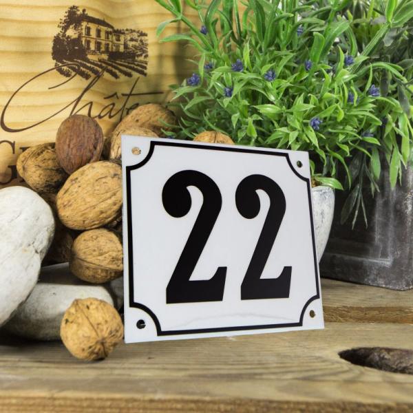 Huisnummerbord groot wit nummer 23