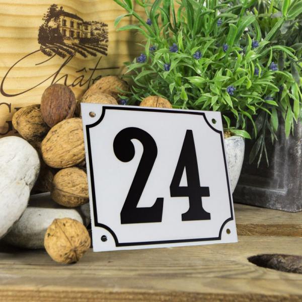 Huisnummerbord groot wit nummer 24