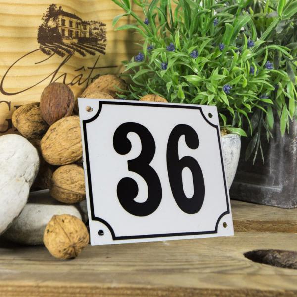 Huisnummerbord groot wit nummer 36