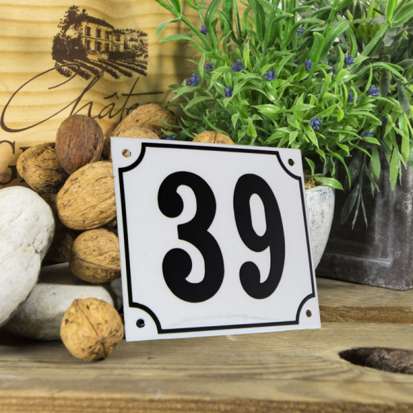 Huisnummerbord groot wit nummer 39