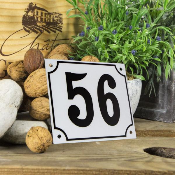 Huisnummerbord groot wit nummer 56