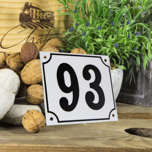 Huisnummerbord groot wit nummer 93