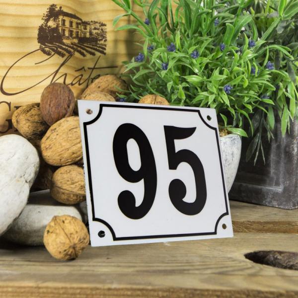 Huisnummerbord groot wit nummer 95