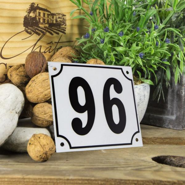 Huisnummerbord groot wit nummer 96