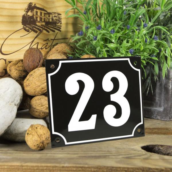 Huisnummerbord groot zwart nummer 22