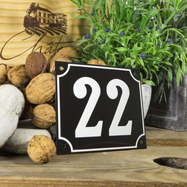 Huisnummerbord groot zwart nummer 23