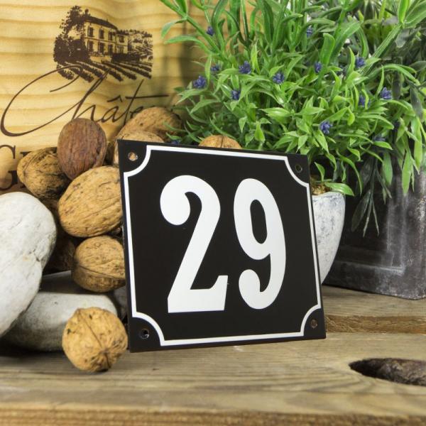 Huisnummerbord groot zwart nummer 29