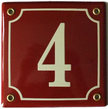 Huisnummerbord 'extra 13x13' 2 cijfers/letters