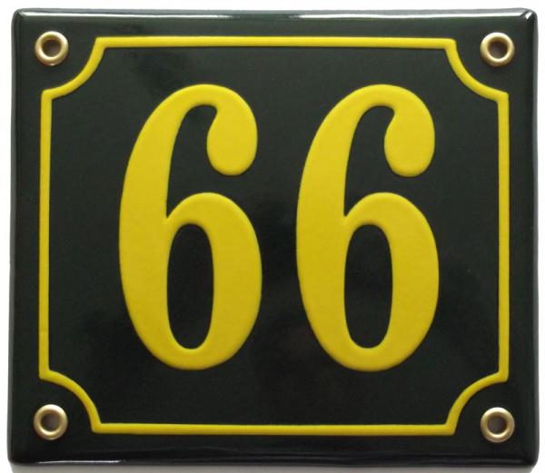 Huisnummerbord 'extra 15x13' 3 cijfers/letters