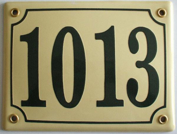 Huisnummerbord 'extra 17x13' 4 cijfers/letters