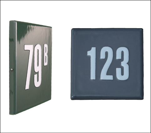 Huisnummerbord 10x10 cm 'Quattro' modern