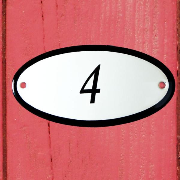 Huisnummerbordje ovaal nummer 4