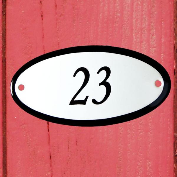 Huisnummerbordje ovaal nummer 23