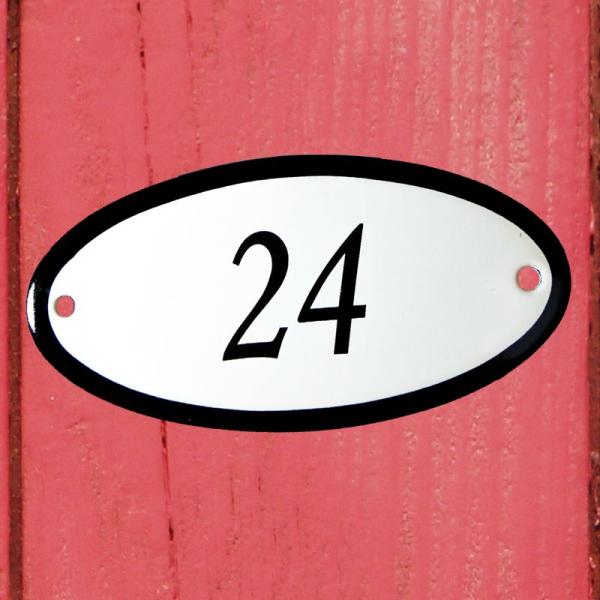 Huisnummerbordje ovaal nummer 24