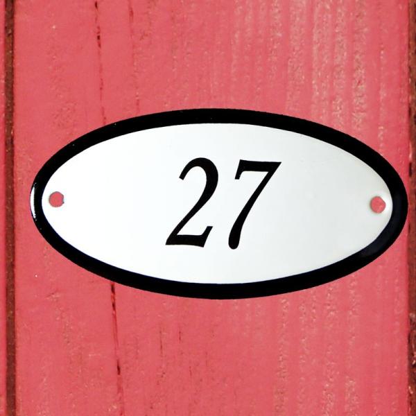 Huisnummerbordje ovaal nummer 27