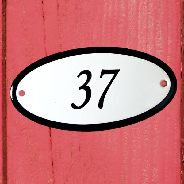 Huisnummerbordje ovaal nummer 37