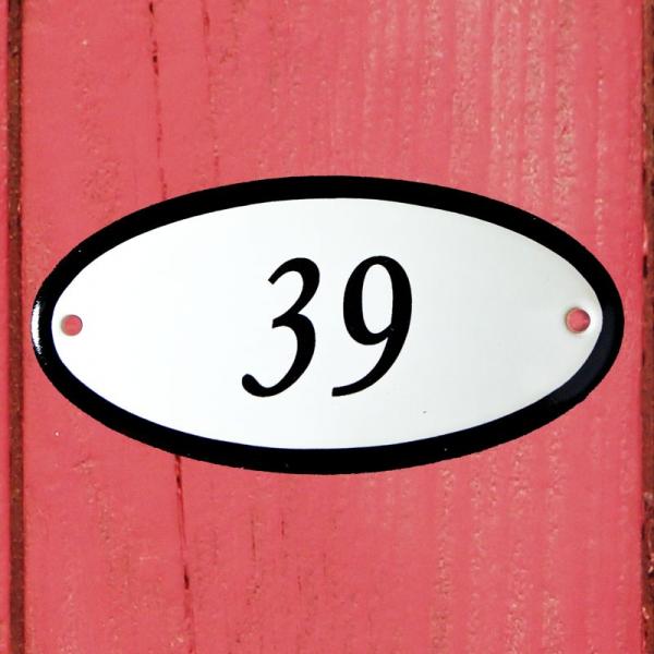 Huisnummerbordje ovaal nummer 39