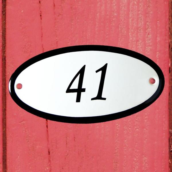 Huisnummerbordje ovaal nummer 41