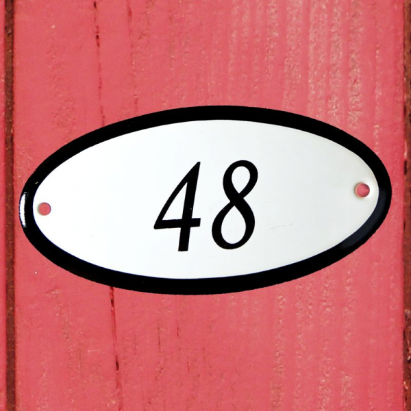 Huisnummerbordje ovaal nummer 49