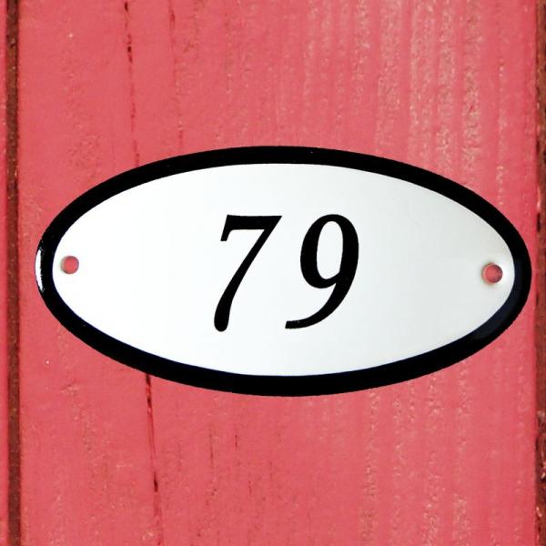 Huisnummerbordje ovaal nummer 79