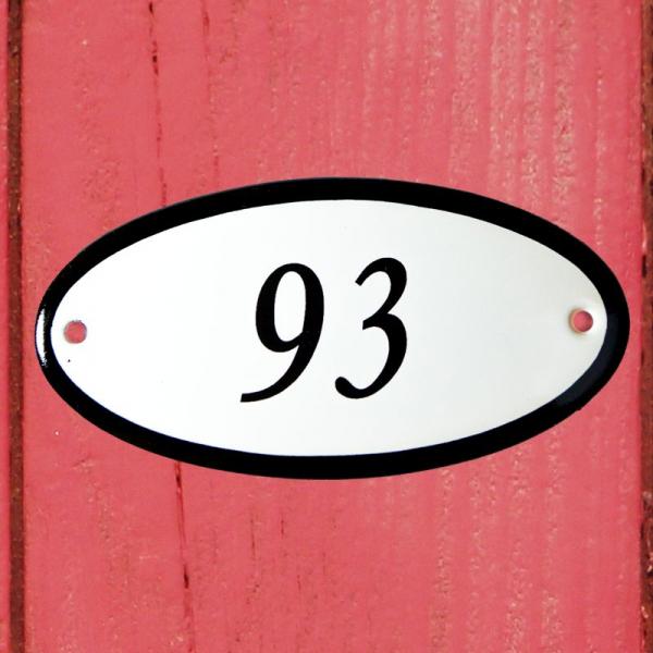 Huisnummerbordje ovaal nummer 93
