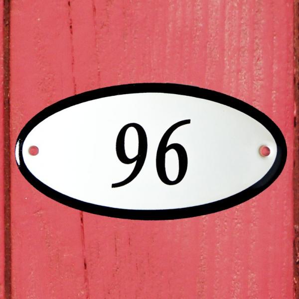 Huisnummerbordje ovaal nummer 96