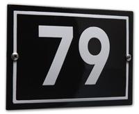 Huisnummerbord 16x11 cm 'Phil' modern