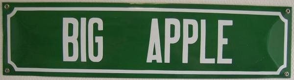 Straatnaambord Big Apple