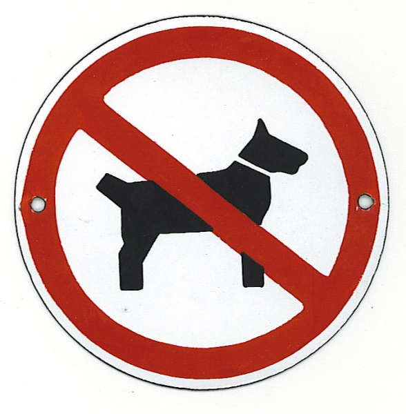 Pictogram: verboden voor honden