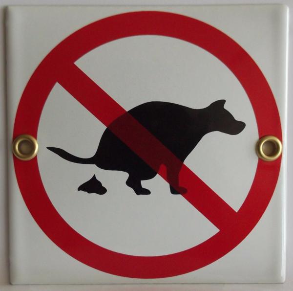 Pictogram: verboden dier uit te laten