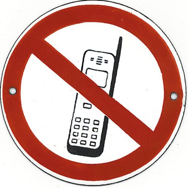 Pictogram: verboden (mobiel) te bellen