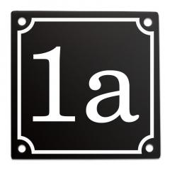 Huisnummerbord 10x10 zwart met eigen nummer/tekst
