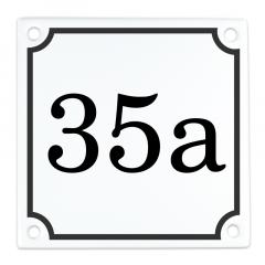 Emaille huisnummer eigen nummer 10x10cm